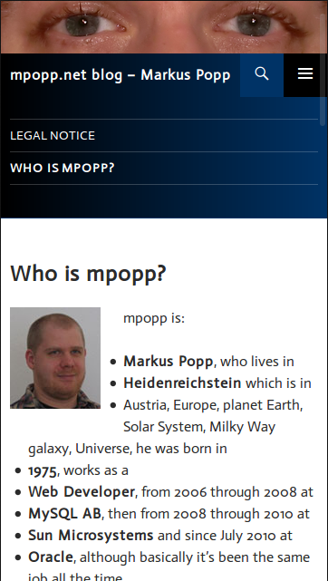 mpopp.net on mobile device